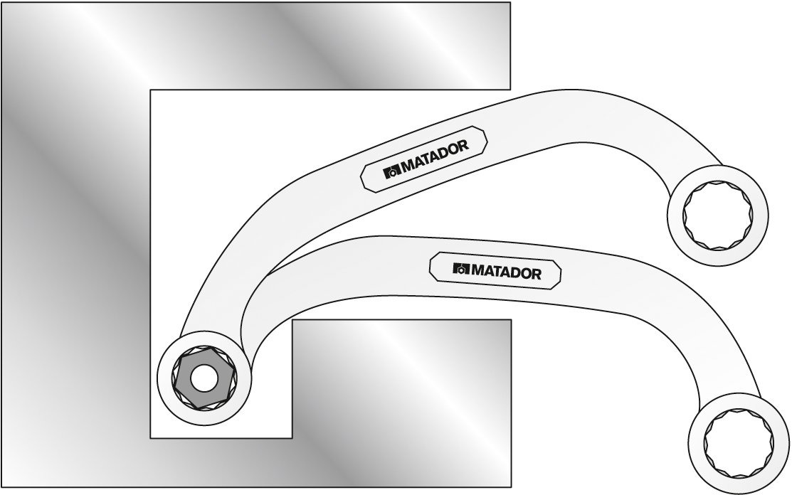 11 x 13 mm und Blockschl/üssel Matador 0188 1113 Starter