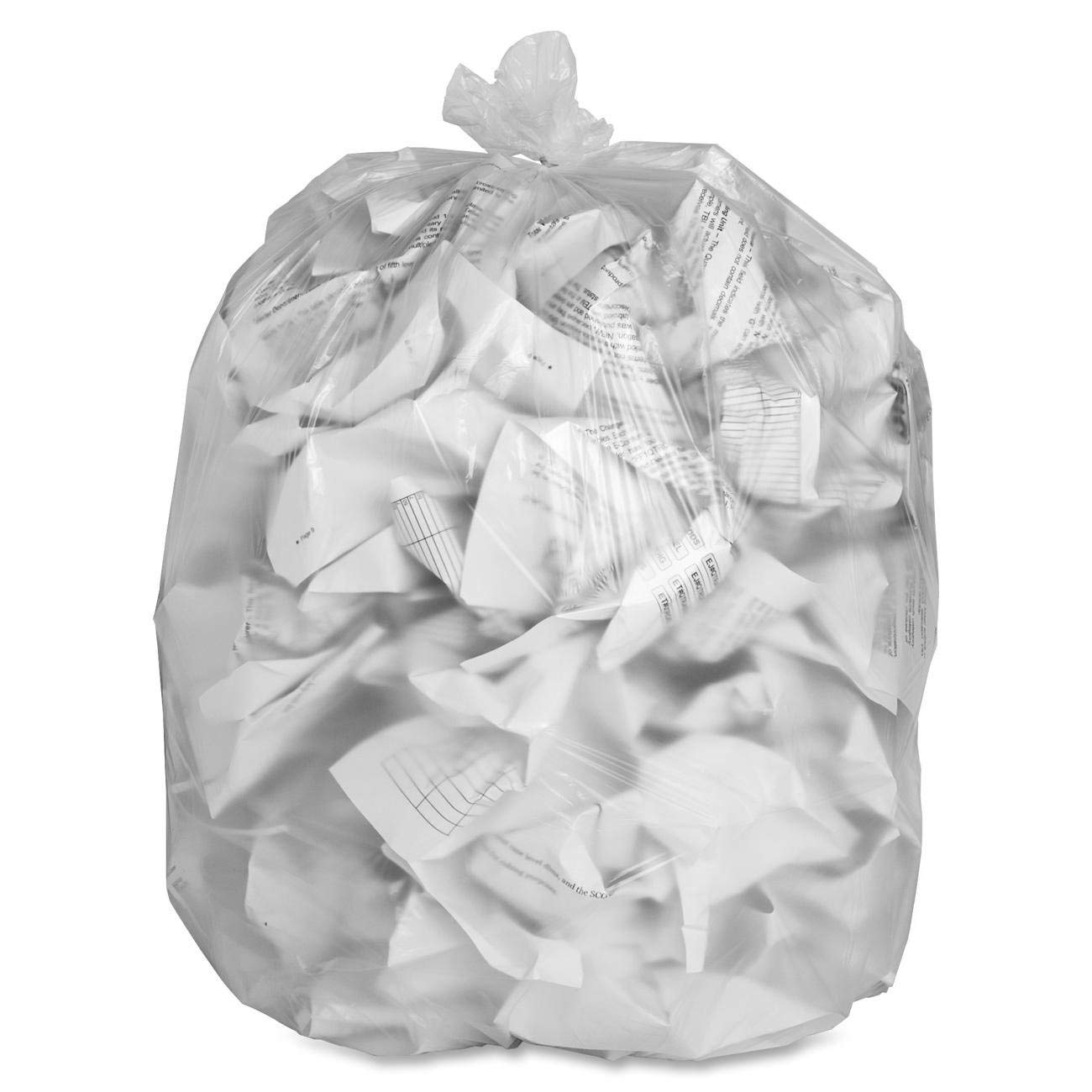 Genuine Joe GJO01757 High-Density Trash Can Liner, 33 Gallon Capacity, 40'' Length x 33'' Width x 0.43 mil Thickness, Clear (Case of 500) (CASE of 2500.)