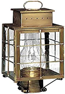 product image for Brass Traditions 420 SHAB Medium Post Lantern 400 Series, Antique Brass Finish 400 Series Post Lantern