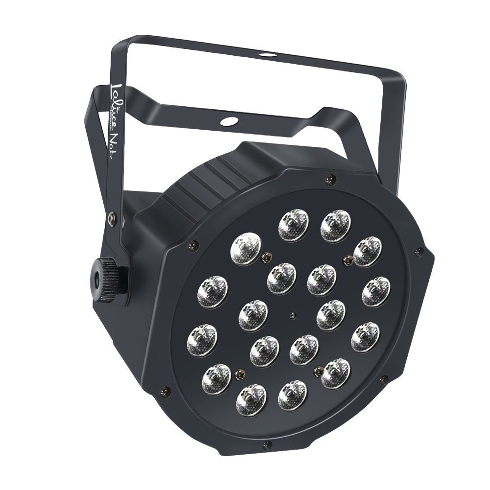 LaluceNatz Par Lights with RGB 18LEDs Wash Lighting by Remote and DMX Control for Wedding Church Stage Lighting