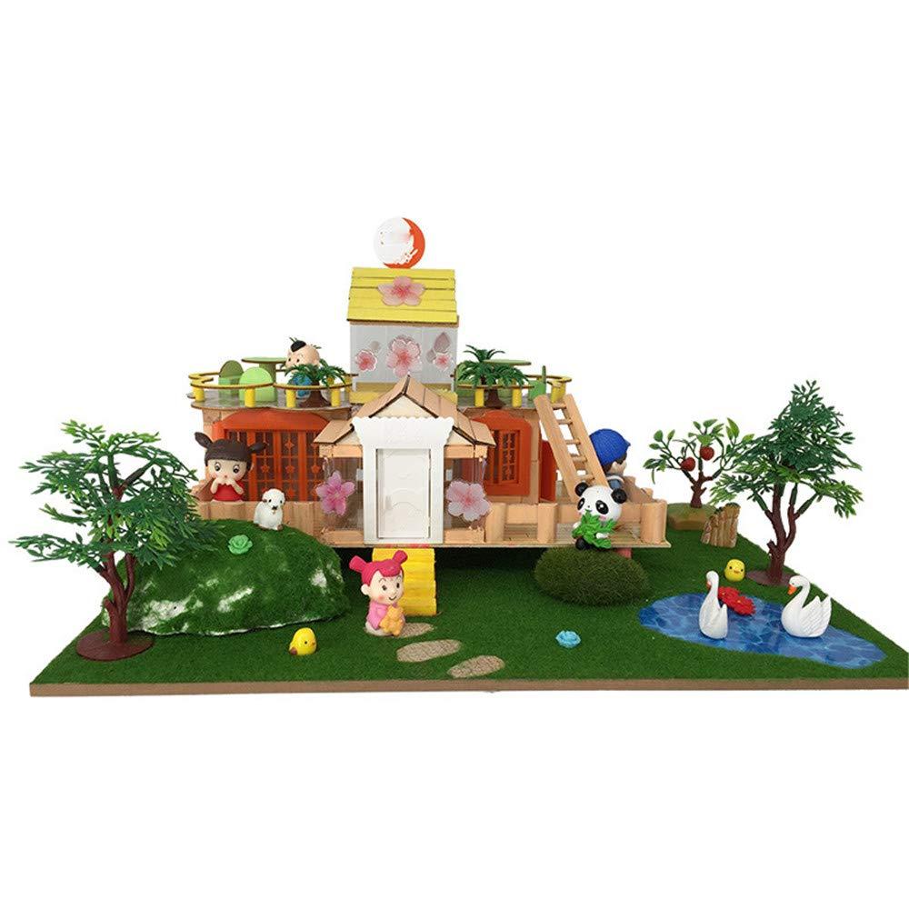 Giocattolo educativo Giocattoli per bambini Loft fatto a mano Villa Edificio didattico Modello Fai da te Capanna Regali creativi Regalo creativo per ragazzi e ragazze Regalo di compleanno per ragazze