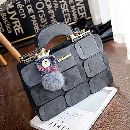 GUAngqi Ladies Suture Shoulder Bag Inclined Bag Women PU Leather Handbag Office Lady Messenger Bag,black,As description (Messenger Bag Boston)