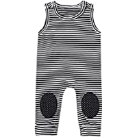 Vincent&July Newborn Baby Boys Girls Striped Sleeveless Romper Clothes