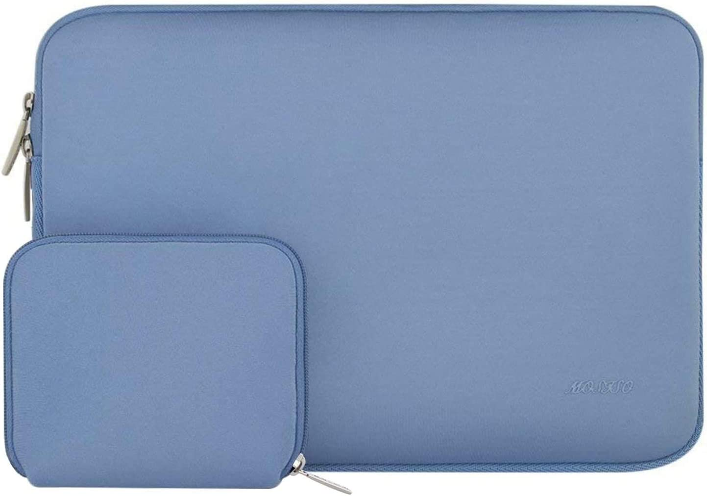 MOSISO Laptop Sleeve Compatible with 13-13.3 inch MacBook Pro, MacBook Air, Notebook Computer, Water Repellent Neoprene Bag with Small Case, Serenity Blue
