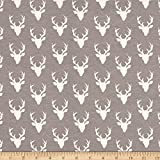 Art Gallery Tiny Buck Forest Jersey Knit Mist Fabric By The Yard