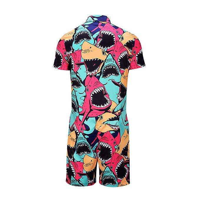Amazon.com: OLUOLIN mono de una pieza para hombre de moda de ...