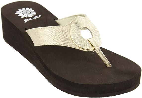 8.5 Gold Flip Flop Sandal | Flip-Flops