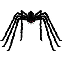 Angelhood Halloween Decorations Giant Spider 6.6ft,Realistic Large Hairy Spider Scary Furry Spider Props for Indoor…