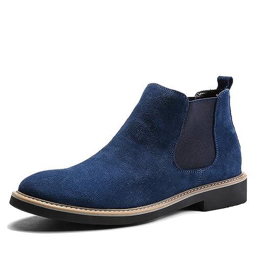 BELECOO Botines de Cuero de Ante de Chelsea Boots Para Hombre: Amazon.es: Zapatos y complementos
