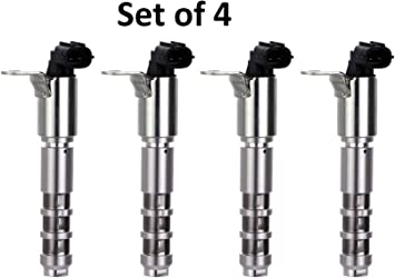 Engine Variable Valve Timing Solenoid VVT Valve for Select 3.0L or 3.6L Buick Cadillac Chevrolet GMC Pontiac Saturn Pack of 4 Replaces 12586722 12636175 12615613