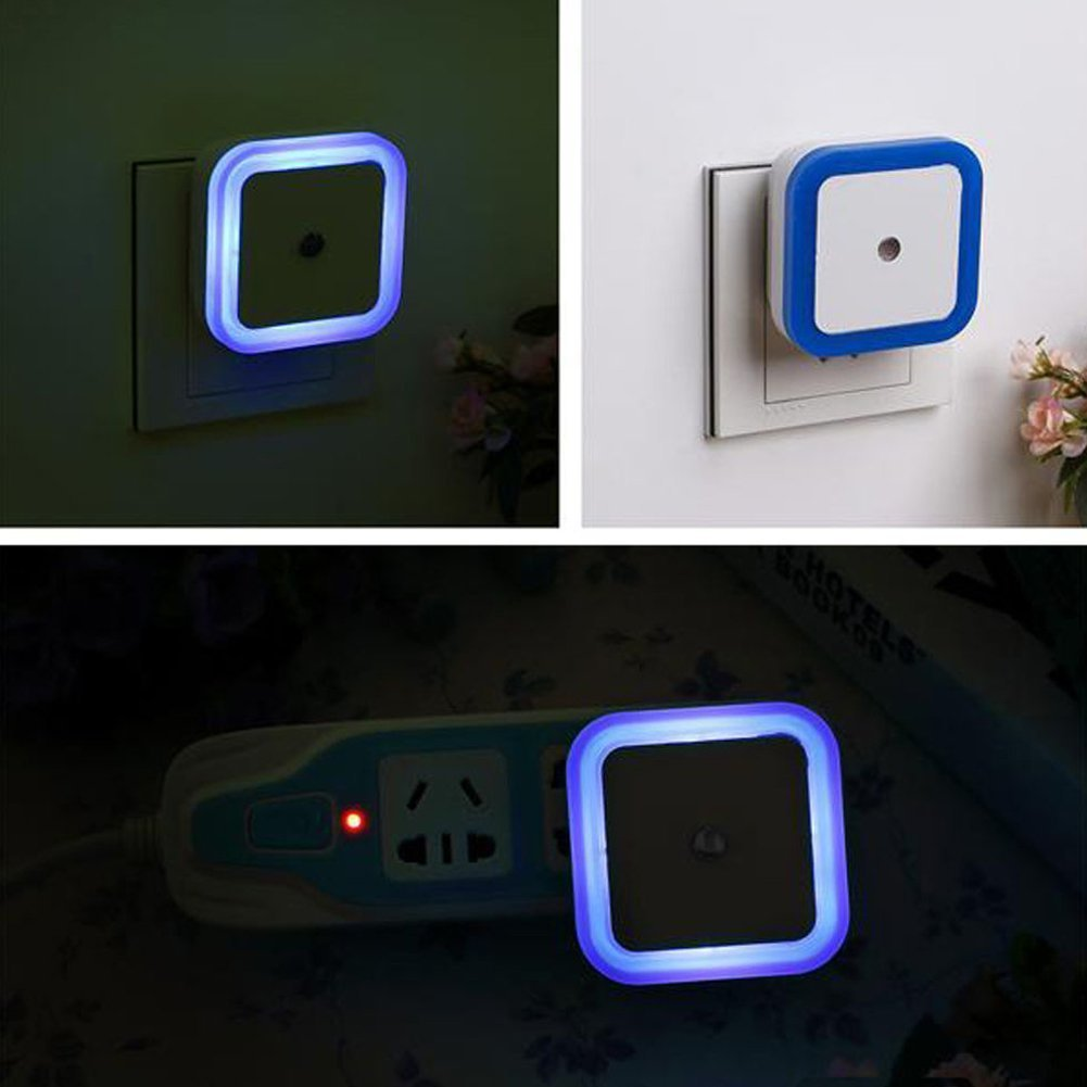 Square Auto Led Night Light Induction Sensor Control
