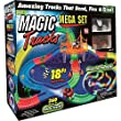 Magic Tracks 18 ft. Mega Set With LED Race cars MEGA-Cool Colorful Glow In The Dark Racing!