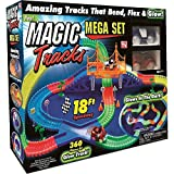 Magic Tracks 18 ft Mega Set With LED Race cars MEGA-Cool Colorful Glow In The Dark Racing!