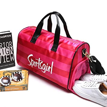 Small gym sports bag holdall duffel kit bag with shoe compartment women 2353e6550e4ac