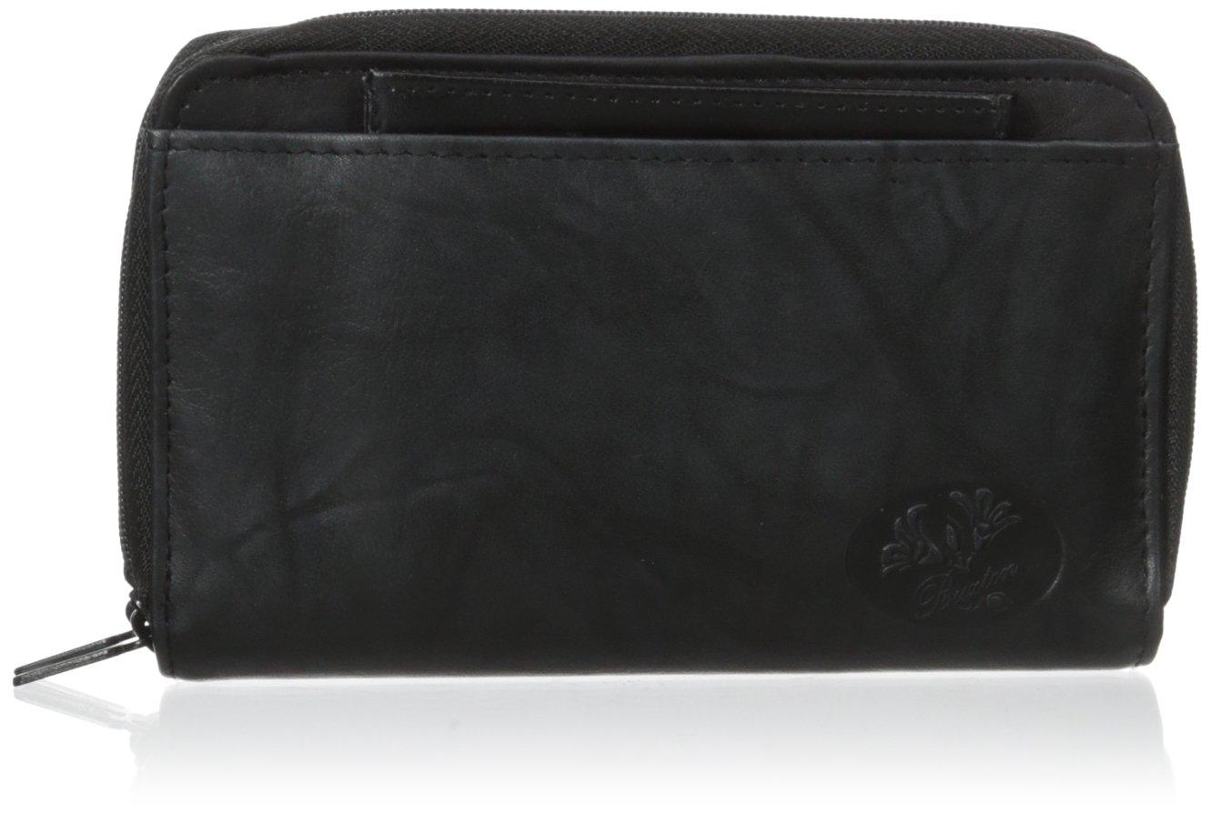Buxton Heiress Double Zip Organizer Wallet, Black, One Size