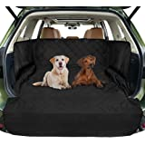 FunniPets Cargo Liner for SUV, Waterproof Dog Cargo Cover with Side Walls Protector and Bumper Flap, Non-Slip Backing, Quilted Pet Seat Cover, Large Size Universal Fit