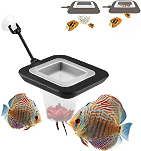 Multi-Function Fish Feeder Ring Set Aquarium Fish Tank Live Red Worm Food Feeder Plant Cone Cup Feed Thaw Measuring Cup Shape Basket for Feeding Feeding Fish Aquatic Pet for Betta
