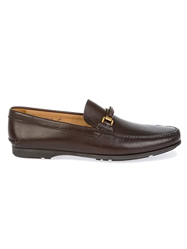 Men's ARONSOFTCALFBURNT Brown Leather Loafers