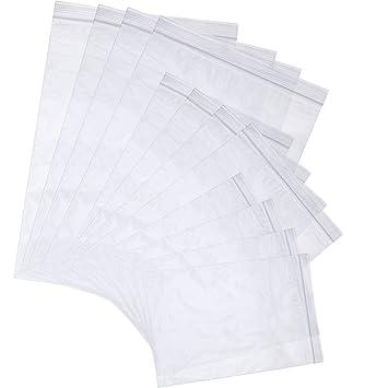 Chuangdi - 300 bolsas transparentes con cremallera ...