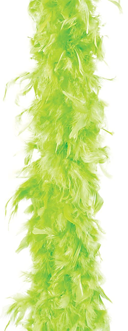 Rhode Island Novelty Dozen Neon Green 72 Feather Boas 20's Show Girl Cabaret Costume Accessory
