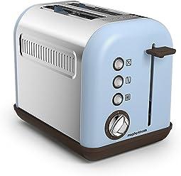 Morphy Richards 222003EE Accents Toaster 2 Schlitz, azur blau