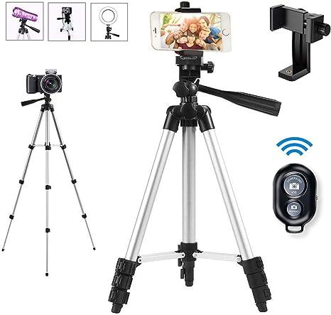 Trípode para cámara y Smartphone, con Soporte para teléfono móvil ...