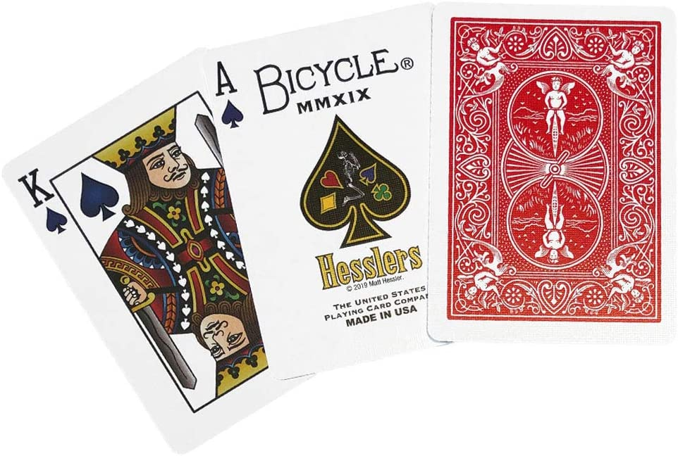Bicycle Playing Cards Playing Card Lot Card Games Red and Blue Man Cave Playing Card Ephemeral Vintage Playing Cards Rider Back