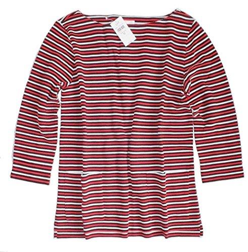 J Jill - Women's - Striped Ottoman Knit Sweatshirt Knit Top - Pockets (Large (14/16)) from J Jill