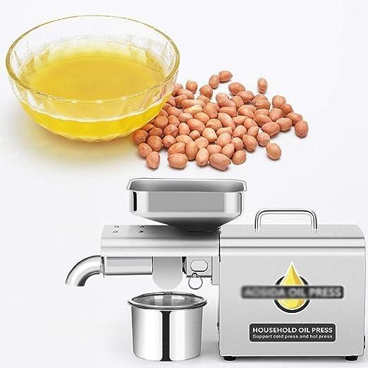 Inicio automático pequeña prensa de aceite Aceite expulsor Extractor de aceite, freír los hogares Comercial Pequeño caliente y fría de la prensa de aceite, 98% de aceite Rendimiento / Borrar aceite /: