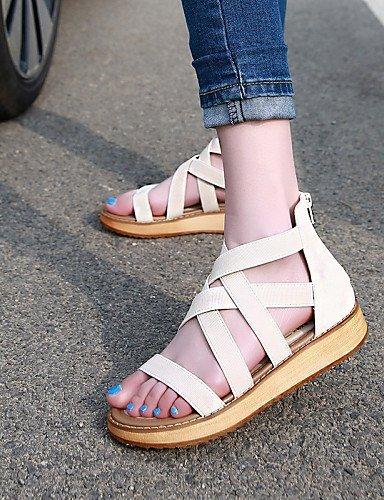 Platform Toe ShangYi Shoes Black White Open Sandals Platform Women's Comfort Casual Black EYqcY4w
