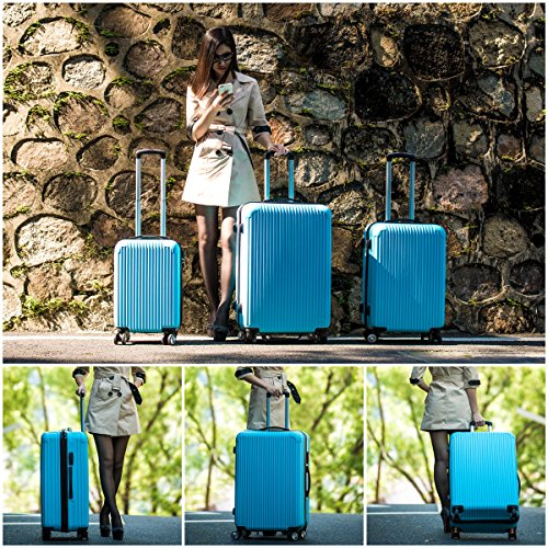 ˜�free Shipping★innerteck 3 Piece Luggage Set Spinner