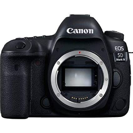Canon EOS 5D Mark IV 30.4MP Digital SLR Camera  Black  with Body Only Digital SLRs