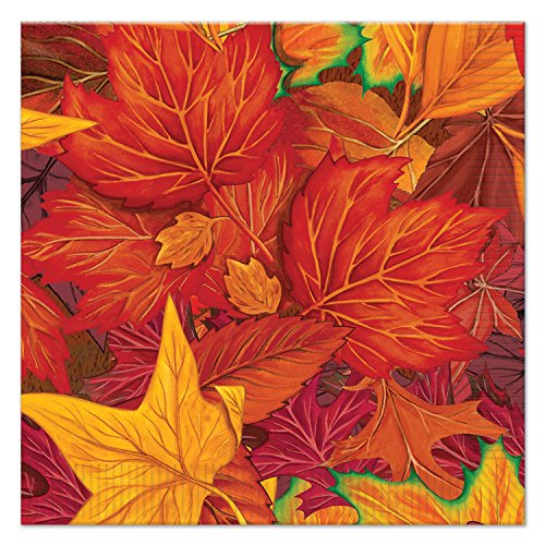Beistle 90812 Fall Leaf Luncheon Napkins (16 Pack), Multicolor]()