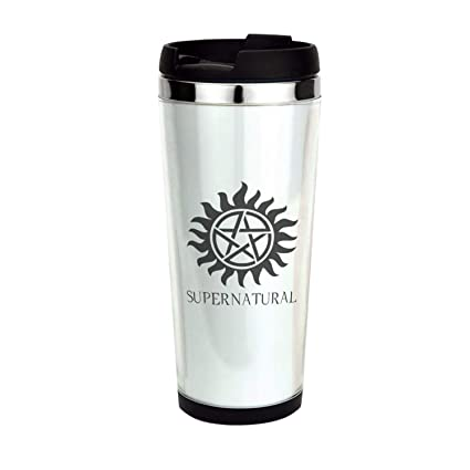 94d16d22fea Amazon.com: Supernatural, Drinking Cup, Coffee Mug,Travel Mug 14oz: Kitchen  & Dining