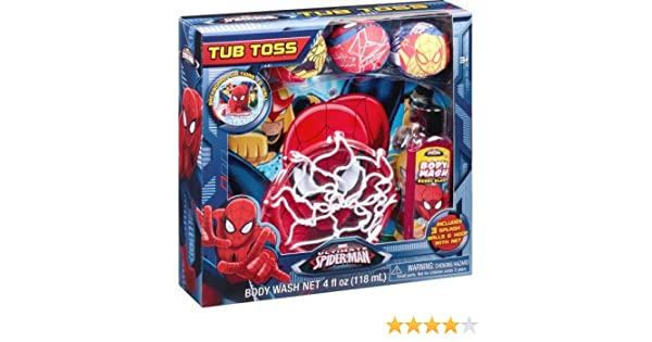 Amazon.com: Marvel Ultimate Spider-Man Tub Toss Gift Set, 5 pc: Toys & Games