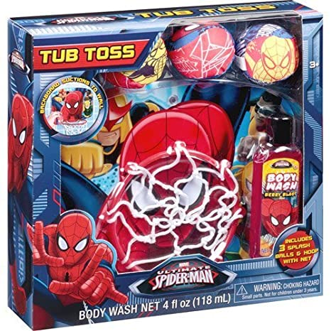 Marvel Ultimate Spider-Man Tub Toss Gift Set, 5 pc