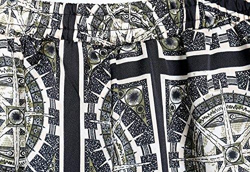 Estivi Di Donna Lunga Baggy Pantaloni Moda Grazioso Pantaloni Trousers Vita Stoffa 7 Pattern Grazioso Pantaloni Tasche Stampate High Eleganti Moda Sottile Pantaloni Elastica Colour Moda Di Harem Con Waist SqSnTaC5