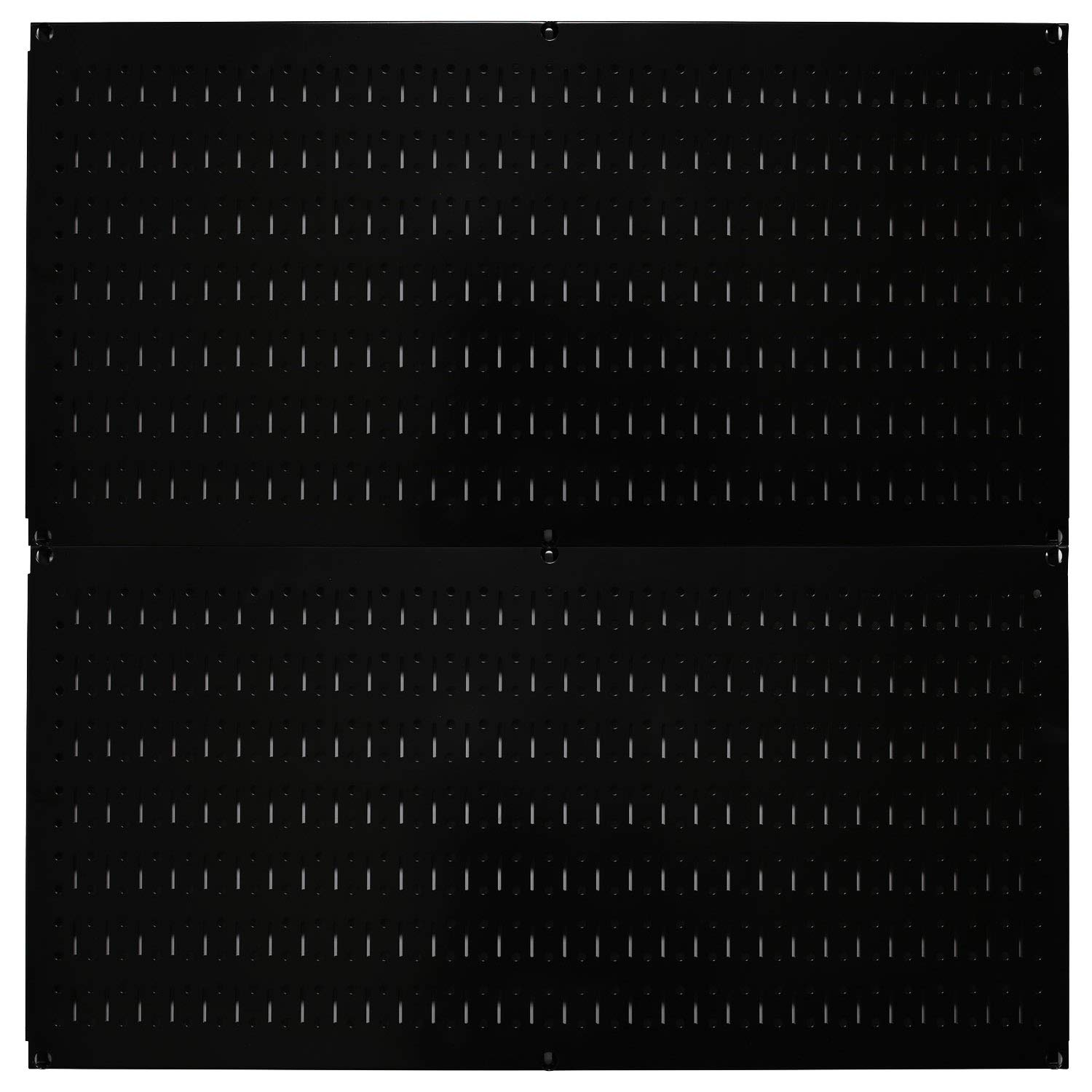 Wall Control Pegboard Rack Horizontal Metal Pegboard Garage Tool Storage Pack - Two 32-Inch Wide x 16-Inch Tall Easy to Install Peg Boards (Black) by Wall Control