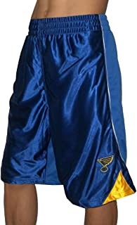 NHL PRO QUALITY: St. Louis Blues Herren Mesh Sport Shorts with Lining