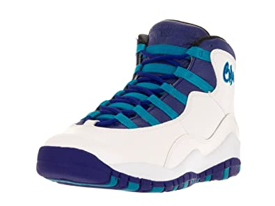 new arrival 2bd10 dc7b9 Jordan Boy s 10 Retro Big Kids Style, White Concord Blue Lagoon Black