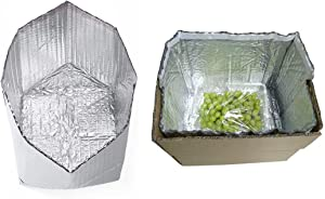 QIQIDAI Thermal Box Liners, Reusable Food Grade Foil Insulation Bags, Double-Sided Aluminum Foil Insulated Box Liners Size 8 x 8 x 8, Insulated Liners For Shipping Temperature Products Leak Resistant (5Pcs)