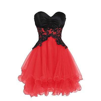 Ellames Sweetheart Bridesmaid Short Prom Homecoming Party Dresses for Juniors