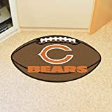 "Fan Mats 5712 NFL - Chicago Bears 22"" x 35"" Football Shaped Area Rug"