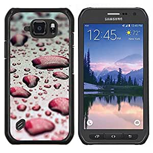 EJOOY---Cubierta de la caja de protección para la piel dura ** Samsung Galaxy S6Active Active G890A ** --Agua Gota Red Bokeh
