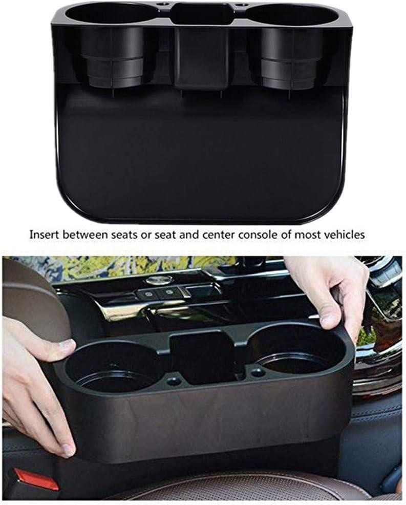 Multifunctional Bottle Organizer Seat Drinking Bracket WUYANSE Universal Car Seat Seam Wedge Cup Holder Black