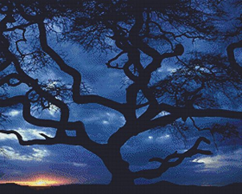 Nature's Finest No. 36 Cross Stitch Pattern Tree Silhouette