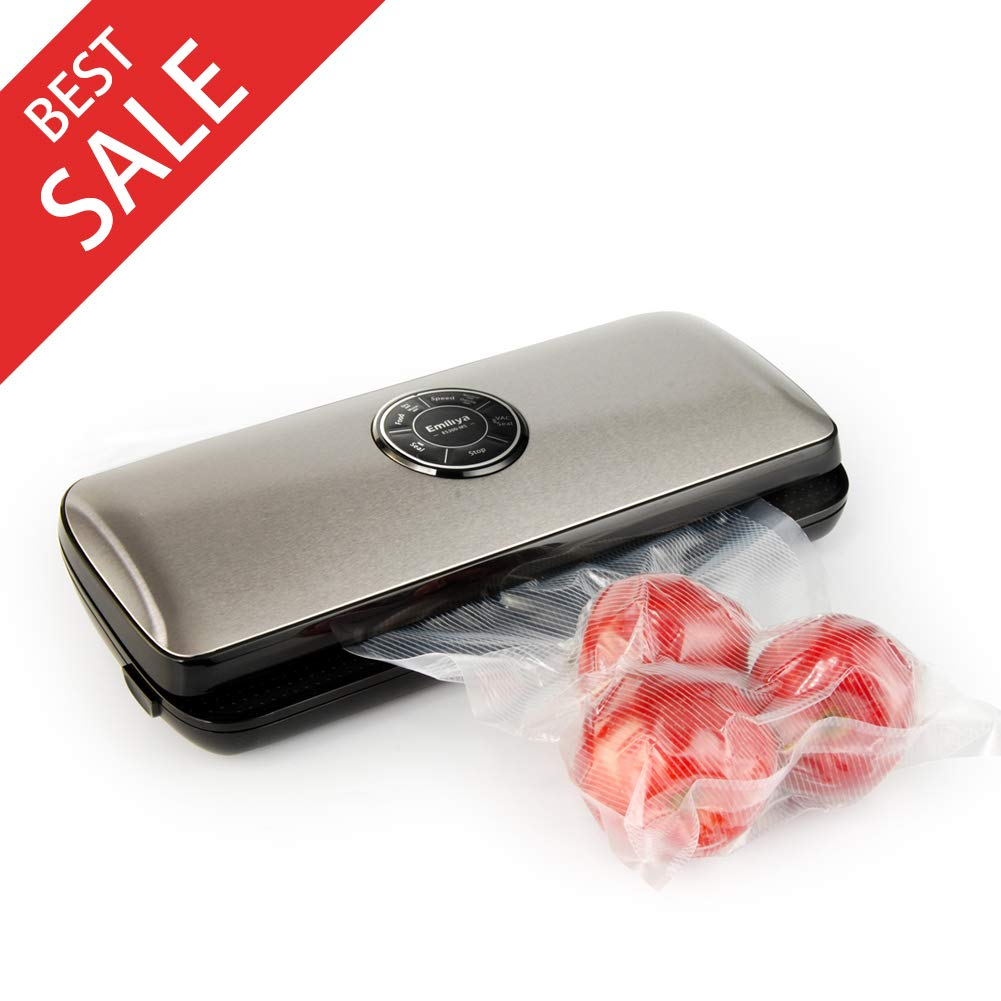 Nattork Vacuum Sealer Machine for Food Preservation with Starter Bags and Roll Starter Kit for Food Saver and Sous Vide by Nattork