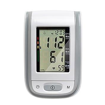 Tochange automático Inteligente Tensiómetro Monitor LCD esfigmomanómetro Digital con función Voz Personas Mayores Salud Regalo de Salud, Gris: Amazon.es: ...