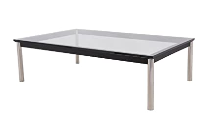 Amazoncom Leisuremod Le Corbusier Style Lc10 Glass Top Stainless