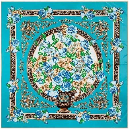 LYDHWK Marca España Royal Estampado Floral Bufanda de Seda Mujer pañuelo pañuelo para Mujer Hijab Bufandas cuadradas pañuelos de Seda Sky Blue: Amazon.es: Deportes y aire libre